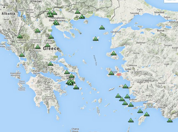 Greece Refugee map